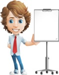 Vector Man Cartoon Character - Presentation3