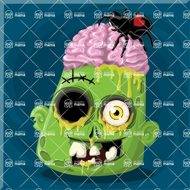 Zombie Vector Graphic Maker - Zombie with brains