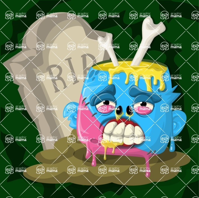 Zombie Vector Graphic Maker - Dead female zombie