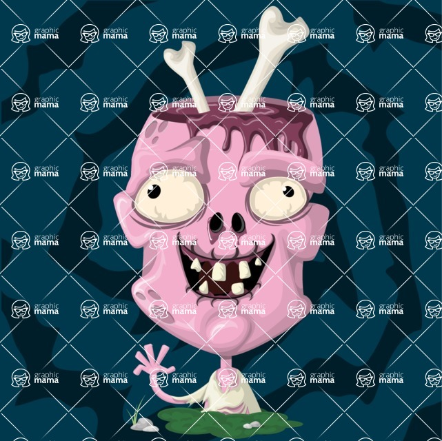 Zombie Vector Graphic Maker - Pink friendly zombie