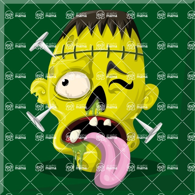 Zombie Vector Graphic Maker - Zombie with nails and tongue out