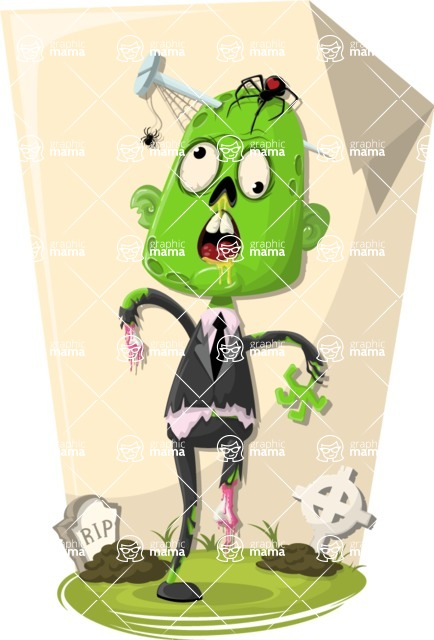 Zombie Vector Graphic Maker - Business zombie
