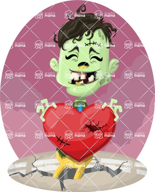 Zombie Vector Graphic Maker - Zombie with heart