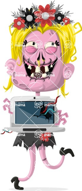 Zombie Vector Graphic Maker - Blogger zombie