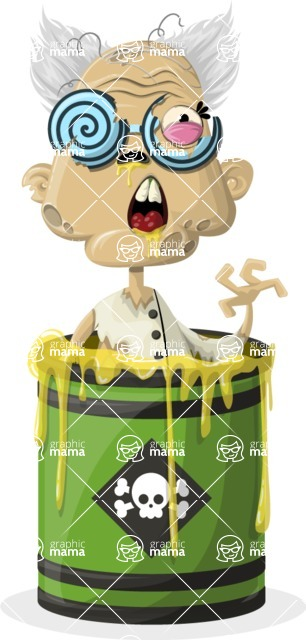 Zombie Vector Graphic Maker - Zombie mad scientist