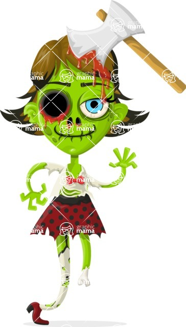 Zombie Vector Graphic Maker - Cute zombie girl