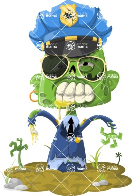 Zombie Vector Graphic Maker - Police officer zombie