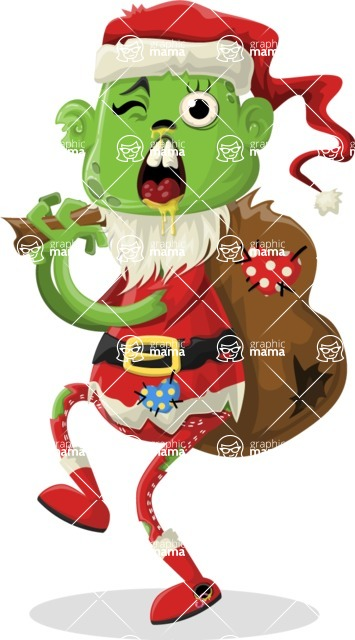 Zombie Vector Graphic Maker - Santa Claus zombie