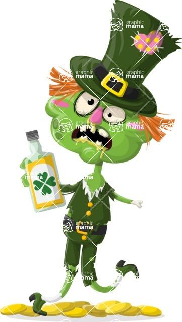 Zombie Vector Graphic Maker - Leprechaun zombie