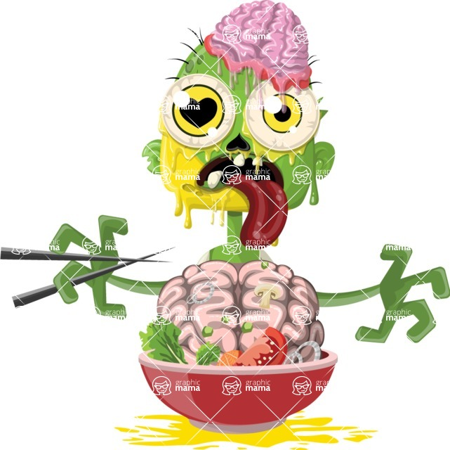 Zombie Vector Graphic Maker - Zombie enjoying a good meal