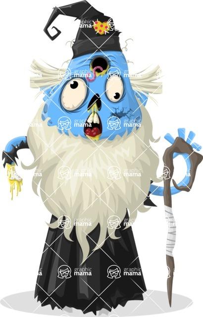Zombie Vector Graphic Maker - Wizard zombie