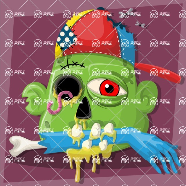 Zombie Vector Graphic Maker - Gangster zombie head avatar
