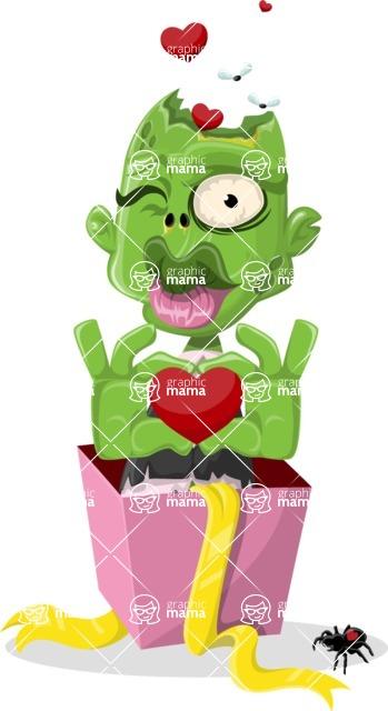 Zombie Vector Graphic Maker - Valentine surprise zombie