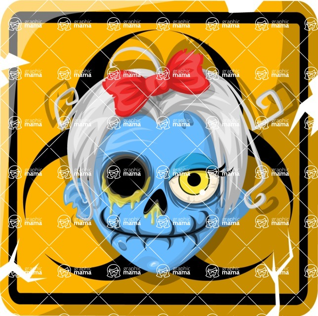 Zombie Vector Graphic Maker - Toxic female zombie