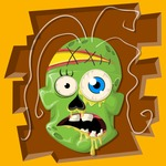 Zombie Vector Graphic Maker - Green zombie scull