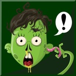 Zombie Vector Graphic Maker - Zombie with worm