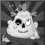 Zombie Vector Graphic Maker - Black and white dreamy zombie