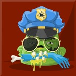 Zombie Vector Graphic Maker - Zombie police officer