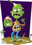 Zombie Vector Graphic Maker - Urban zombie with extra head