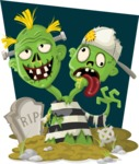 Zombie Vector Graphic Maker - Zombie with two heads