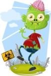 Zombie Vector Graphic Maker - Cute kid zombie character