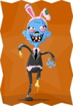 Zombie Vector Graphic Maker - Female business zombie