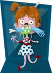 Zombie Vector Graphic Maker - Little girl zombie