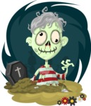 Zombie Vector Graphic Maker - Zombie with gray hair