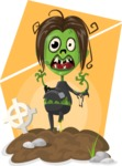 Zombie Vector Graphic Maker - Running female zombie