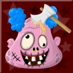Zombie Vector Graphic Maker - Zombie clown with an axe
