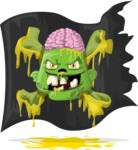 Zombie Vector Graphic Maker - Bad pirate zombie head