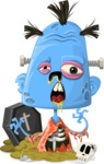 Zombie Vector Graphic Maker - Little blue zombie