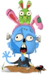 Zombie Vector Graphic Maker - Zombie who loves bunnies