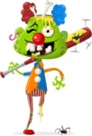 Zombie Vector Graphic Maker - Happy clown zombie