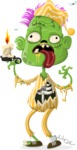 Zombie Vector Graphic Maker - Zombie with pyjamas and candle