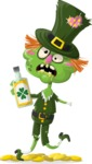 Zombie Vector Graphic Maker - Leprechaun zombie