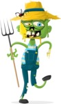 Zombie Vector Graphic Maker - Zombie farmer
