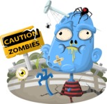 Zombie Vector Graphic Maker - Blue male zombie