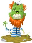Zombie Vector Graphic Maker - Sailor zombie