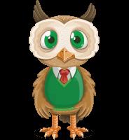 Owl Teacher Cartoon Vector Character AKA Professor CleverHoot