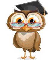 Wise Owl Cartoon Vector Character AKA Owlsen Academic