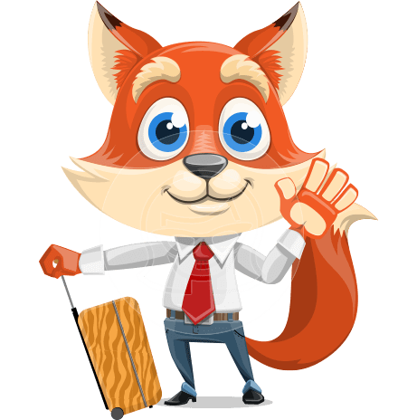 Fox Businessman Cartoon Vector character AKA Ben Tails