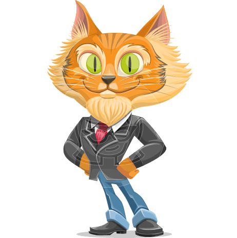 Wild Cat Businessman Cartoon Vector Character AKA Mr. Furrington