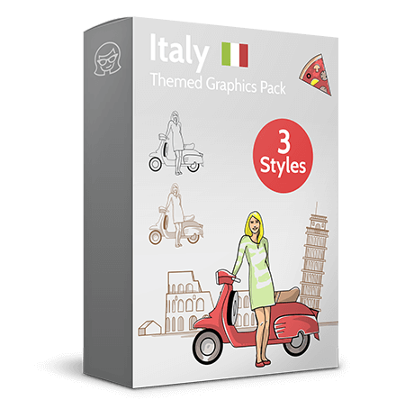 Italy Themed Graphic Collection