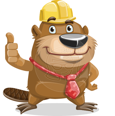 Beaver Cartoon Vector Character AKA Bent the Beaver