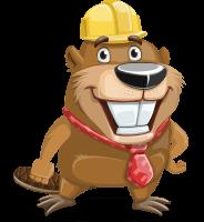 Beaver Cartoon Vector Character AKA Bent the Beaver