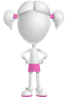 Cute Vector 3D Schoolgirl Cartoon Character AKA Annie Pigtails