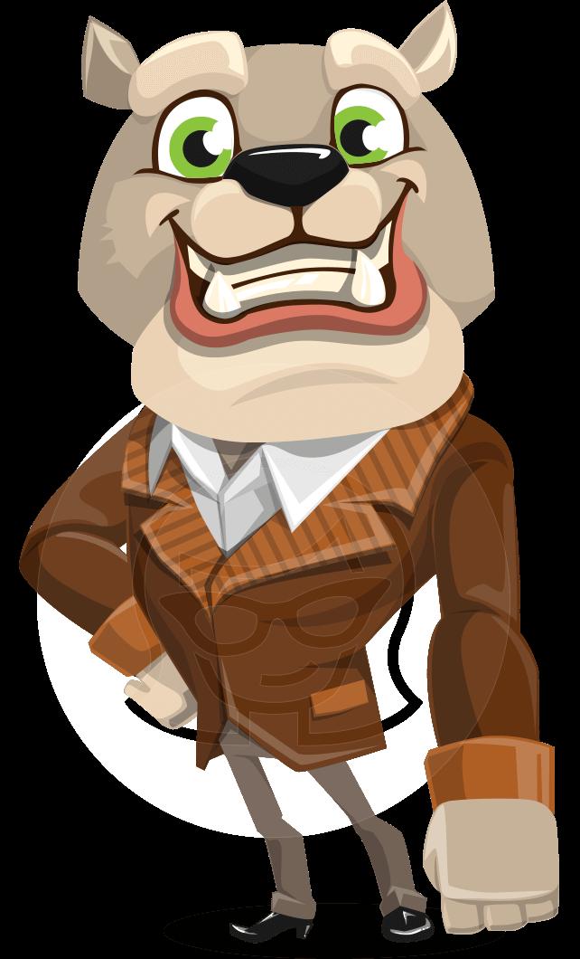 Bulldog Cartoon Vector Character AKA Baron Bulldog