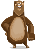 Bear Cartoon Vector Character AKA Barry Bearhug