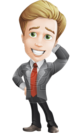 male cartoon character, elegant blond man vector